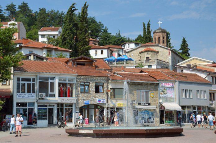 Piaţa Centrală din Ohrid