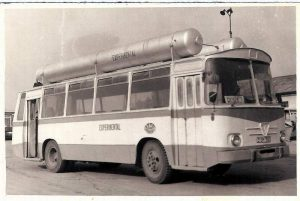 Autobuz TV20, din anii '60, care mergea cu gaz metan