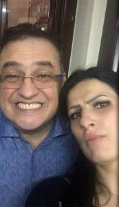 Daniel Neagoe, împreună cu contabila-şefă a TelDrum, Nicoleta Pene