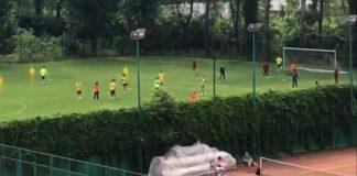 Imaginile difuzate de Telekom Sport de la un antrenament al Rapidului